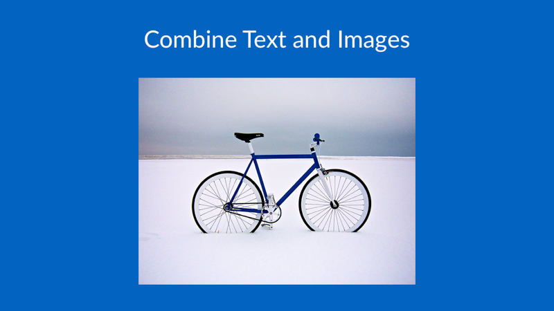 Combine Text and Images