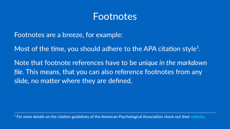 apa style footnotes