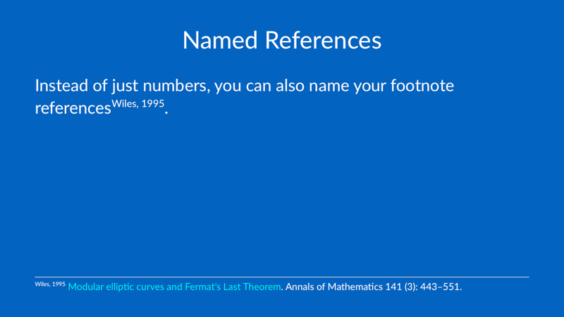 Named References
